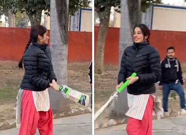 Janhvi Kapoor shows off her 'pro' batting batting skills in latest video