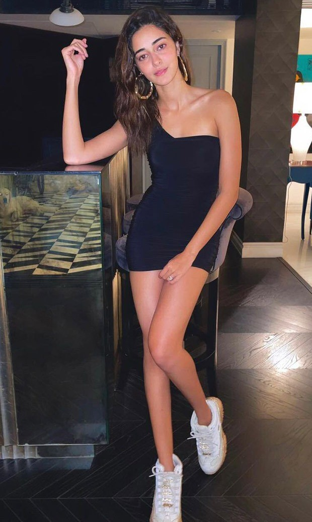 Ananya Panday's little black one-shoulder dress with comfy sneakers is ideal for Valentine's Day