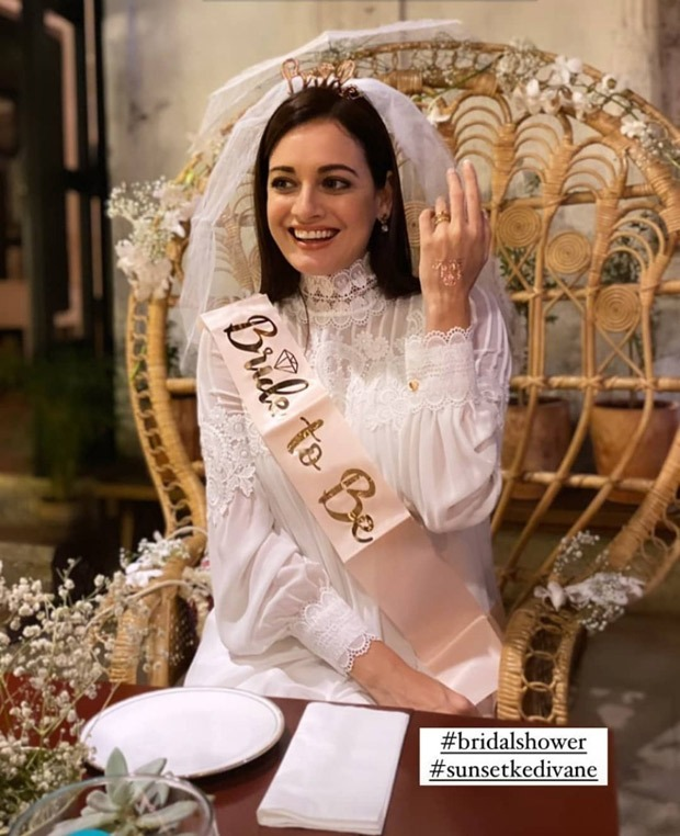 Dia Mirza looks ethereal basking in the pre-wedding glow at her bridal shower