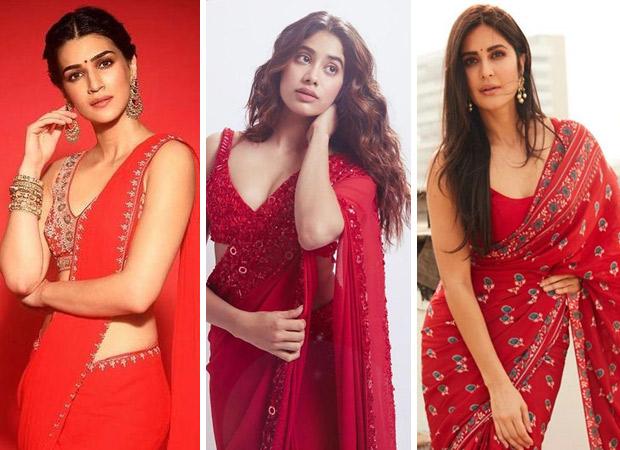 Kriti Sanon, Janhvi Kapoor or Katrina Kaif – who aced the red saree game?