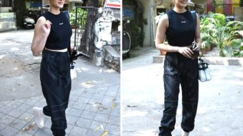Kriti Sanon keeps it casual in crop top and cargo pants, carries Balmain Paris bag worth Rs. 1.5 lakhs