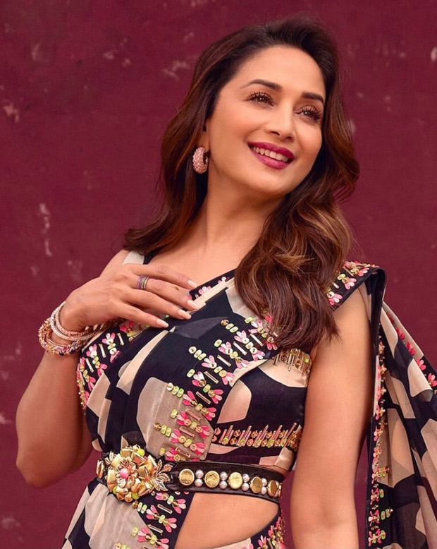 Madhuri Dixit looks radiant and graceful in Rs. 72,800 georgette saree as she kicks off new season of Dance Deewane