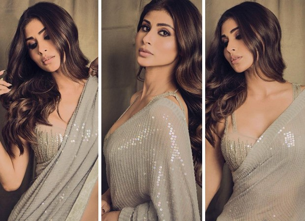 Mouni Roy is epitome of gorgeous in a silver sequin Manish Malhotra saree
