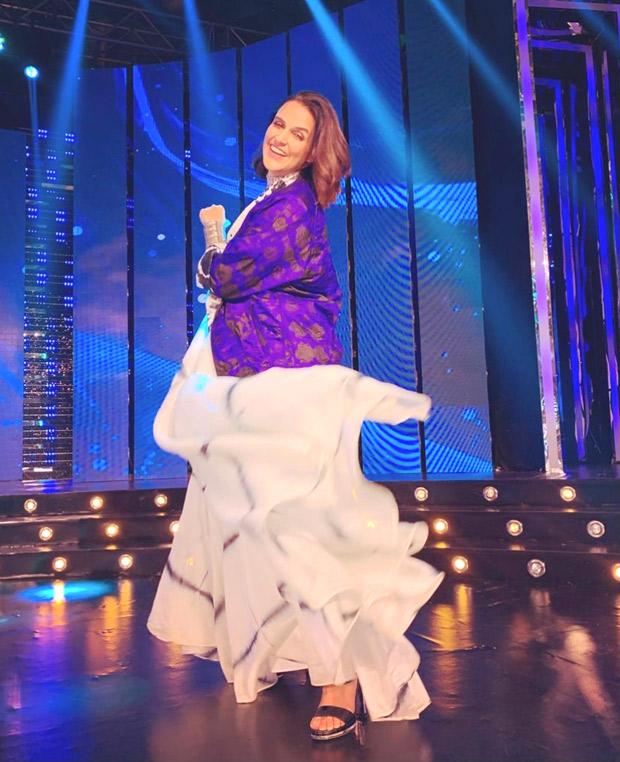 Neha Dhupia makes a statement in a tie dye maxi dress 3