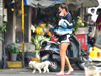 Photos: Aisha Sharma spotted with her pet for morning walk
