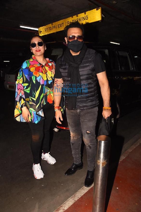 Photos: Govinda and Sunita Ahuja snapped at the airport