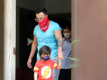Photos: Saif Ali Khan and Taimur Ali Khan spotted in Bandra | Parties & Events Moviesflix