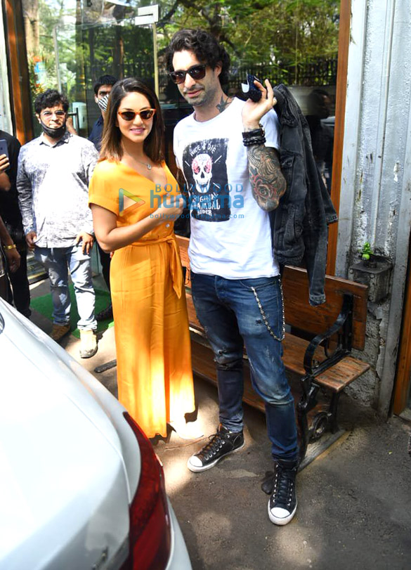 Photos: Sunny Leone and husband Deniel Weber snapped at Silver Beach cafe in Juhu