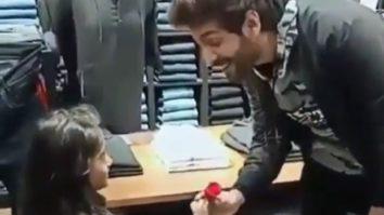 ROSE DAY 2021:Kartik Aaryan receives a rose from an adorable little fan, watch video