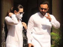 Saif Ali Khan and Karisma Kapoor spotted at Bandra