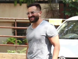 Saif Ali Khan with son Taimur Ali Khan spotted outside his residence in Bandra