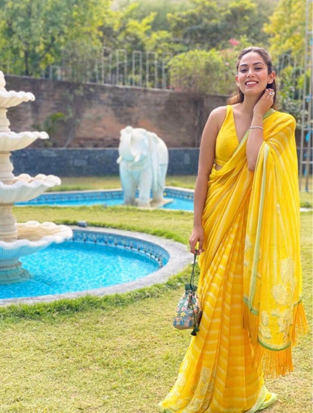 Shahid Kapoor's wife Mira Rajput is a ray of sunshine in Rs. 35,000 Anita Dongre yellow saree