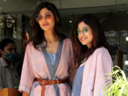 Shilpa Shetty and Shamita Shetty spotted at Farmers' cafe in Bandra