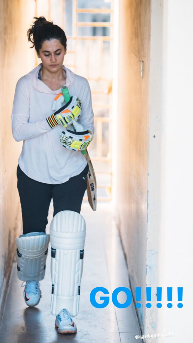 Taapsee Pannu continues her cricket training session for Mithali Raj biopic Shabaash Mithu