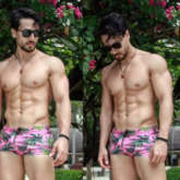 Tiger Shroff shares photos with floral shorts flaunting his insane abs, Disha Patani comments