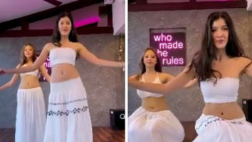 Shanaya Kapoor belly dances to Play Date song; steals Suhana Khan's skirt for video