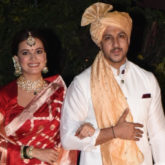 PICS: Dia Mirza and Vaibhav Rekhi pose for the paparazzi after their marriage ceremony