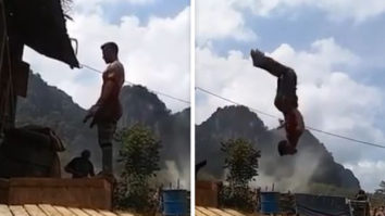 Watch: Tiger Shroff does a perfect back flip as he shoots for an action sequence