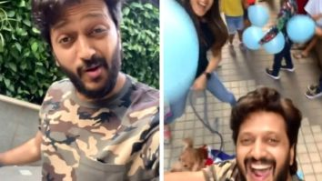 Riteish Deshmukh and Genelia D'souza celebrate their pet dog's birthday with viral 'Pawri Ho Rahi Hai' trend