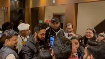 Shillong youth gate-crash Ayushmann Khurrana's hotel while he shoots Anek, the star leaves his dinner to meet them