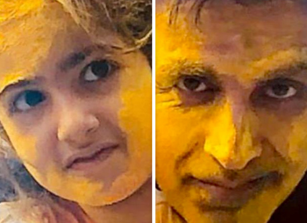 Akshay Kumar shares a picture of Nitara and himself smeared in colour to mark Holi 2021