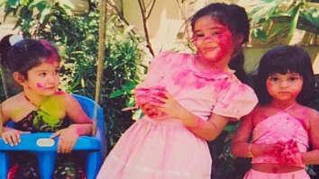 Ananya Panday shares a massive throwback picture with Shanaya Kapoor and Suhana Khan playing Holi as kids