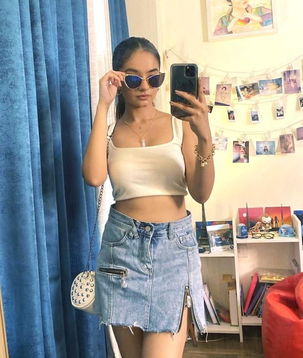 Anushka Sen gives major summer vibes in white tank top and denim mini skirt