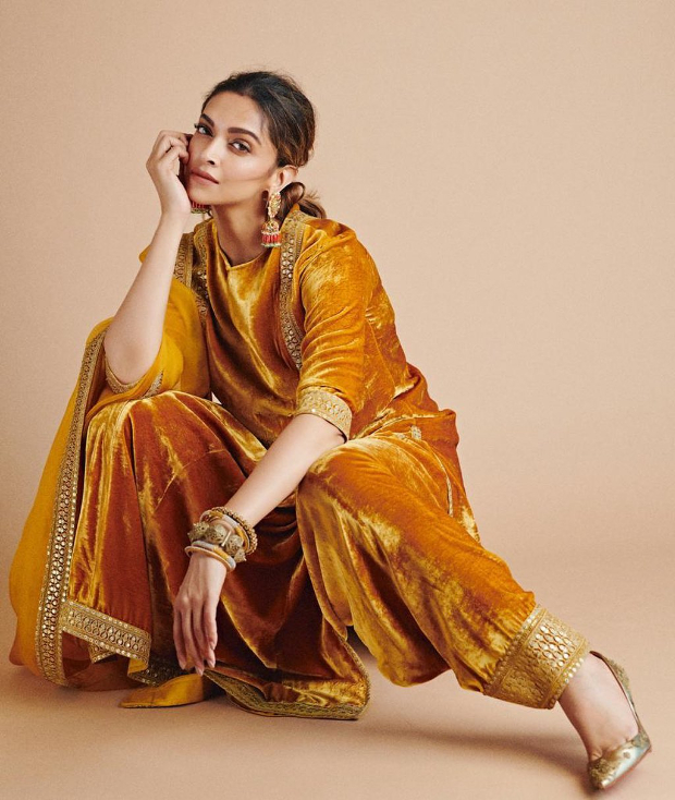Deepika Padukone is summer ready as she welcomes Holi in bright velvet Sabyasachi attire