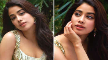 Janhvi Kapoor looks alluring in sexy sequinned blouse and ivory chiffon saree during Roohi promotions