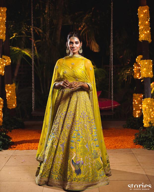Jasprit Bumrah and Sanjana Ganesan keep it vibrant and regal in Anita Dongre and Antar Agni for mehendi and haldi ceremonies 4