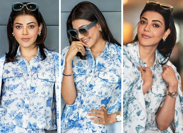 KajaL Aggarwal aces monotone trend with print-on-print powersuit worth Rs. 24,800 for Mosagallu promotions