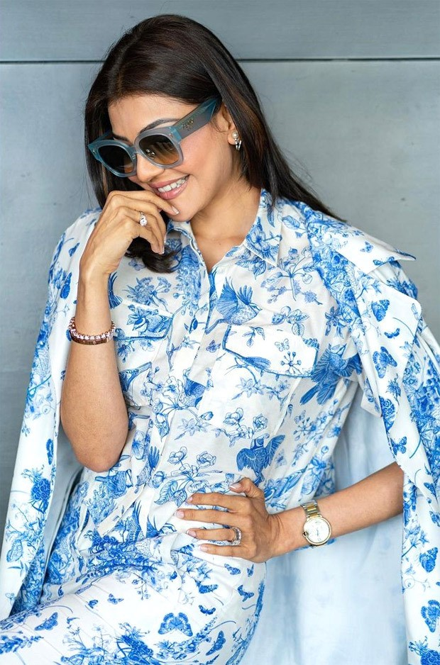 KajaL Aggarwal aces monotone trend with print on print powersuit worth Rs. 24800 for Mosagallu promotions 5