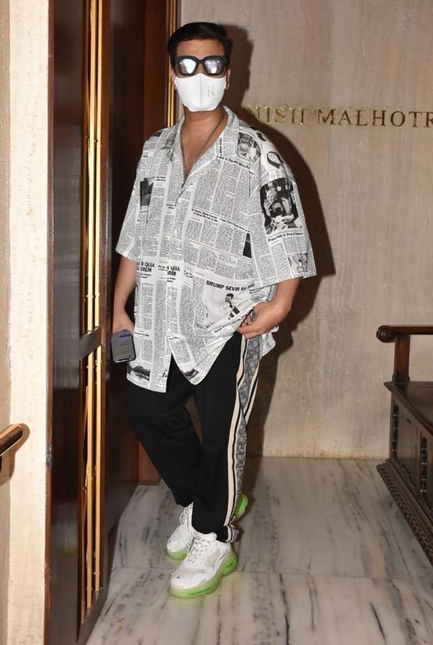 Karan Johar opts for a newspaper print shirt for Manish Malhotra's house party, gets trolled online
