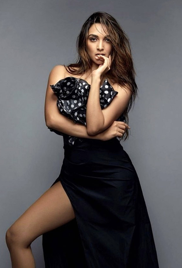 Kiara Advani leaves us breathless in Giuseppe di Morabito polka dot ruffle top and black thigh-high slit skirt