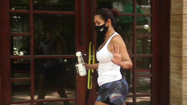 Malaika Arora spotted outside her residence in Bandra