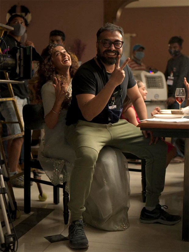 On The Sets: Taapsee Pannu and Anurag Kashyap look excited to restart the shoot of Dobaara