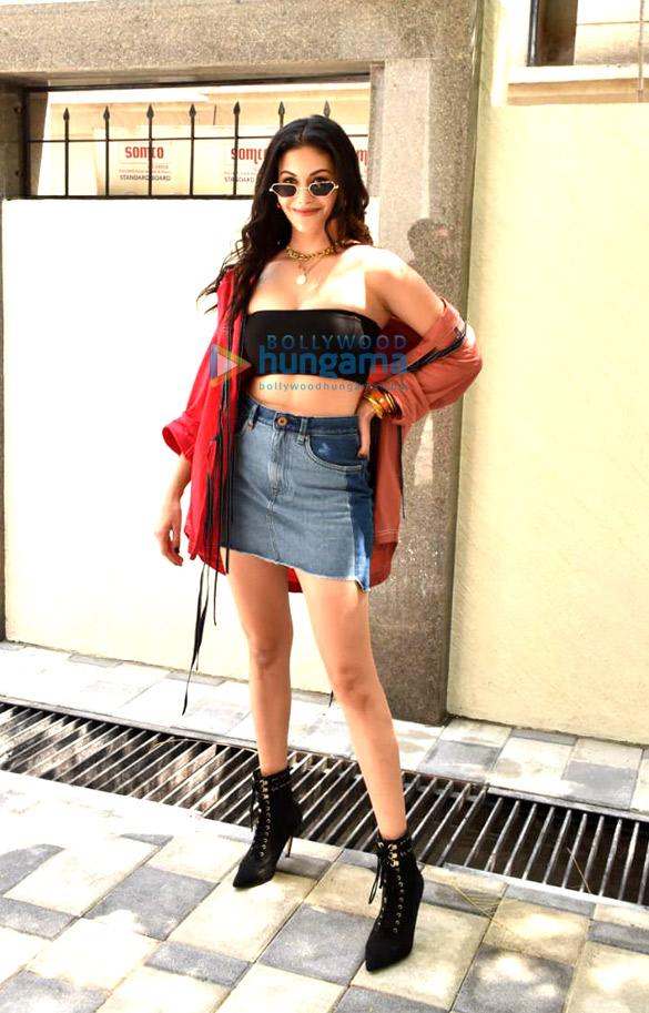Photos: Amyra Dastur snapped during Koi Jaane Na promotions