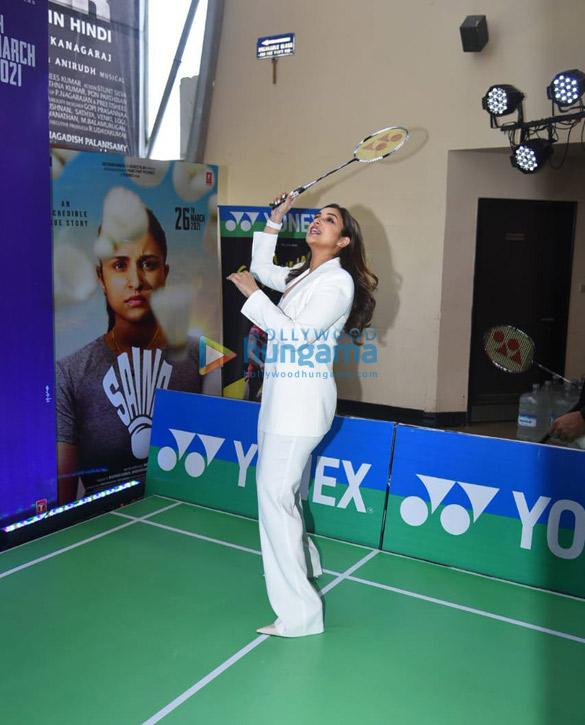 Photos Parineeti Chopra snapped at Saina movie trailer launch in PVR, Juhu (2)