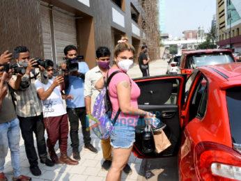 Photos: Rakhi Sawant snapped at a gym in Andheri