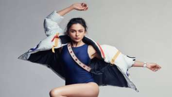 Rakul Preet Singh flaunts her fit figure in blue bodysuit and puffer jacket on the cover of Elle India