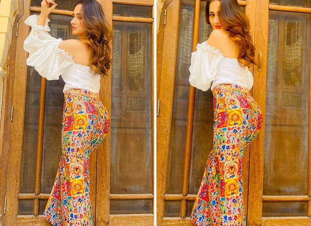 Sanjeeda Shaikh looks summer ready in white off-shoulder top and bohemian pants