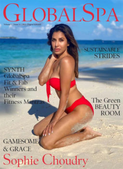 Sophie Choudry On The Cover Of Global Spa