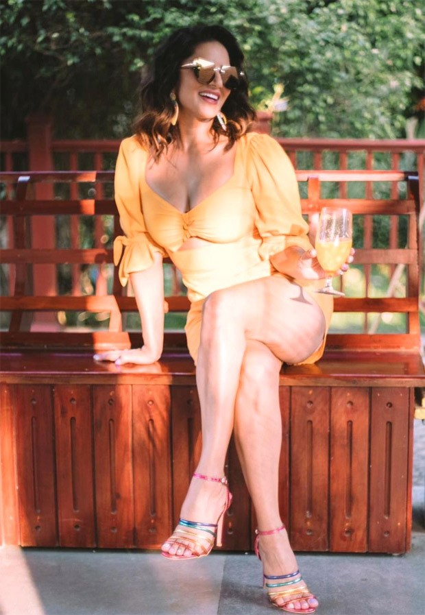 Sunny Leone is a ray of sunshine in yellow bodycon