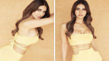 Vaani Kapoor raises the oomph factor following midriff flossing fashion in yellow outfit worth Rs.15,000