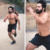 Varun Dhawan gets ripped for Bhediya, posts a video of himself running shirtless