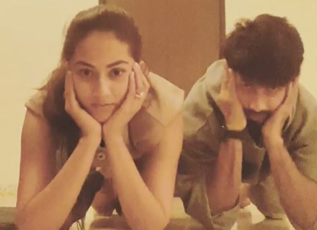 Shahid Kapoor and Mira Kapoor take the Centre of Gravity challenge and here's how it went