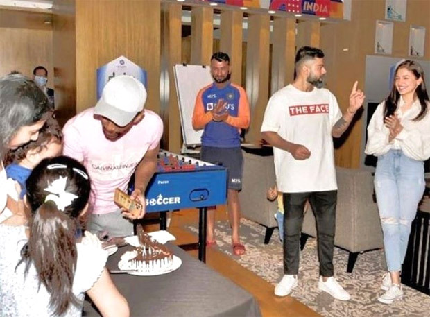 Anushka Sharma and Virat Kohli twin in white as they attend a birthday party in Ahmedabad