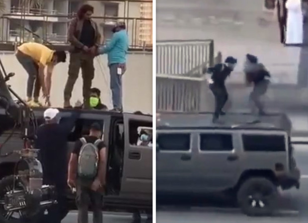 LEAKED: Videos of Shah Rukh Khan shooting a fight sequence atop a car for Pathan goes viral