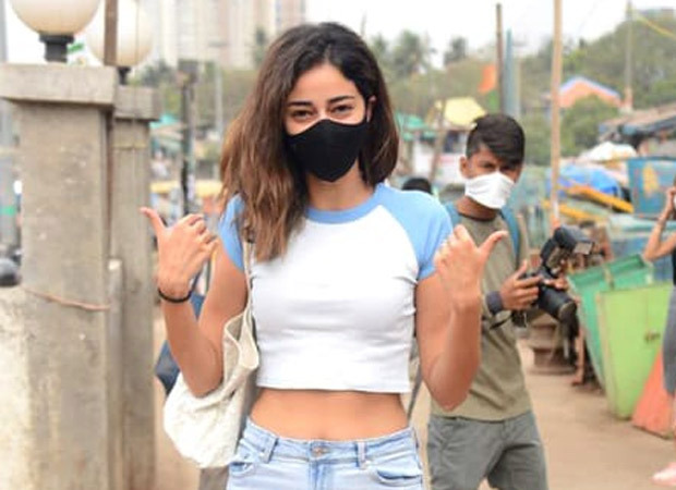 Ananya Panday rocks the casual avatar as she heads for a shoot