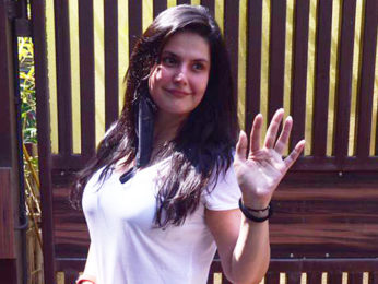 Zareen Khan spotted outside her yoga class in Khar